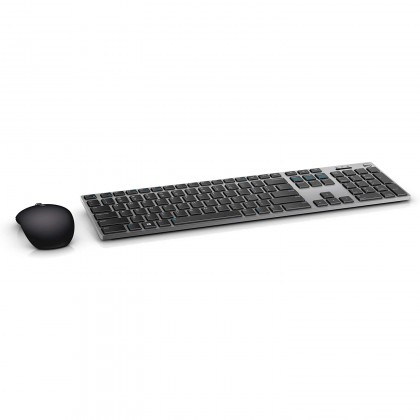 Dell Premier Wireless Keyboard and Mouse 2.4GHz Wireless or Bluetooth LE 1600 Dpi QWERTY US International For PC  Laptop- KM717