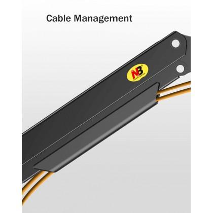 NB North Bayou G40 Heavy Duty Gas Strut Arm 22-40 inch Single Monitor Bracket 3-15kgs with USB 3.0 Port