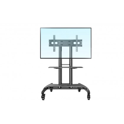 NB North Bayou AVA1500 AVF1500 Aluminum 32-65 inch Height Adjustable TV Stand Portable Mobile TV Trolley Cart TV Stand
